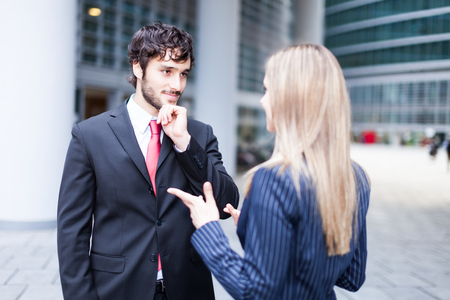 Discussion between business people Stock Photo - 22784431
