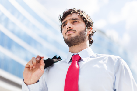 Portrait of a young handsome businessman Stock Photo - 22784486