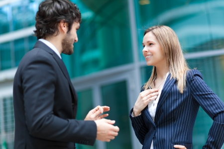 Discussion between business people Stock Photo - 22786392
