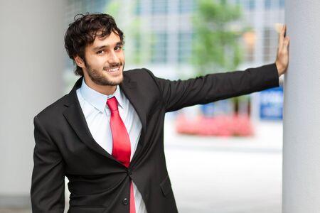 handome: Portrait of an handome business man Stock Photo