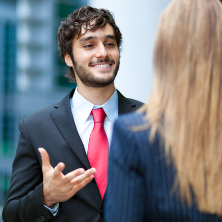 Discussion between business people Stock Photo - 22786747