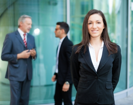 bank manager: Portrait of a smiling businesswoman