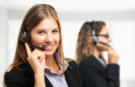 assist: Portrait of a customer representative at work