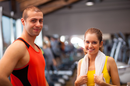 fitness club: Couple in a fitness club