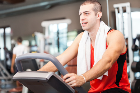 Portrait of a man training in a fitness club Stock Photo - 23531229