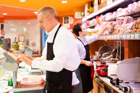 clerks: People at work in a grocery store