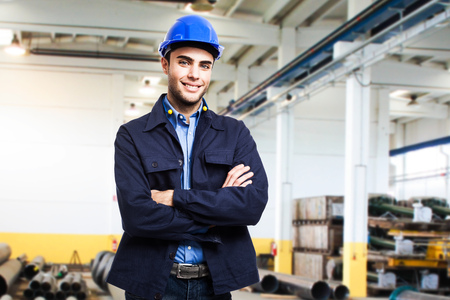 mechanical men: Portrait of an engineer at work Stock Photo