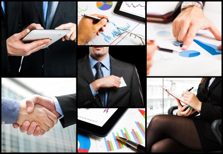 Details of business people at work photo