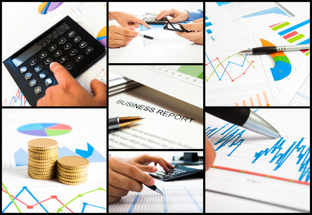 Composition of business related images photo