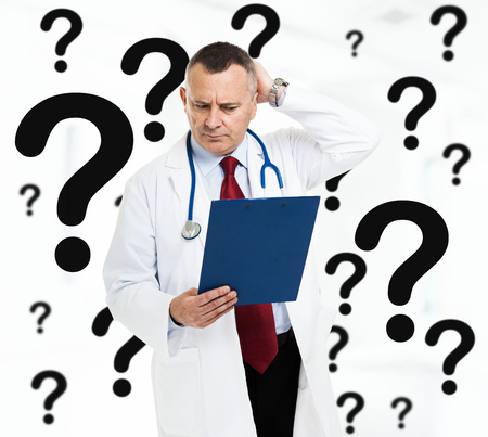 pathologist: Difficult diagnosis Stock Photo