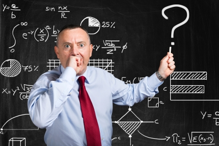 opting: Doubtful man trying to find the solution