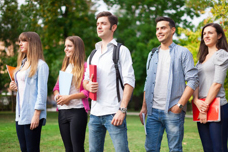 master: Group of students going to school