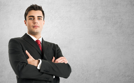 Portrait of an handsome businessman photo