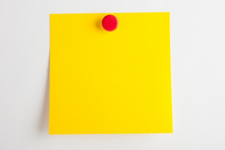red pushpin: Post-it