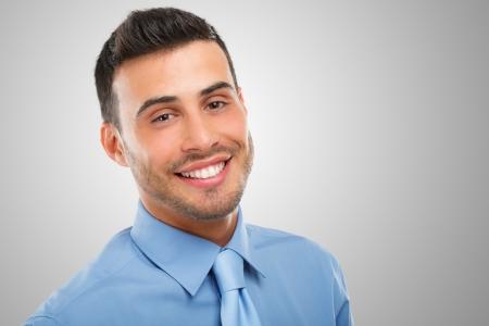 caras de emociones: Retrato de un hombre de negocios sonriente