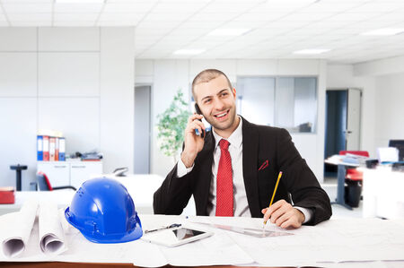 Portrait of an architect in his office Stock Photo