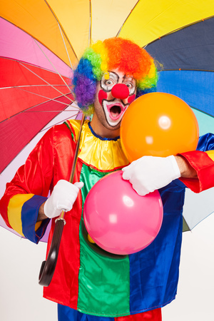vibrance: Portrait of a funny clown