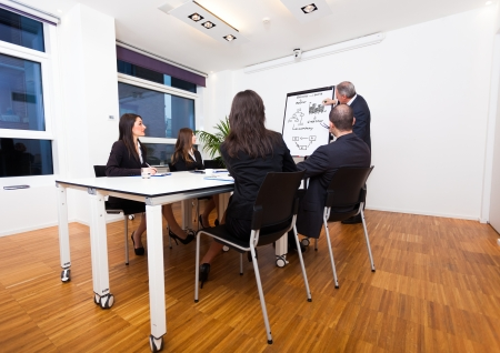 sales manager: Businessman explaining business concepts Stock Photo
