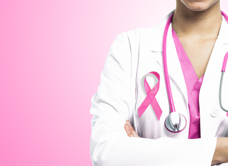 Healthcare, medicine and breast cancer concept photo