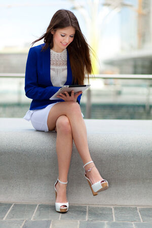 Portrait of a beautiful young businesswoman photo