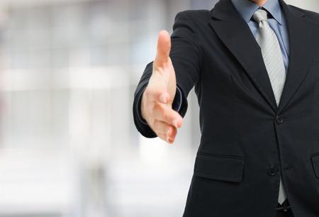 Businessman ready for an handshake