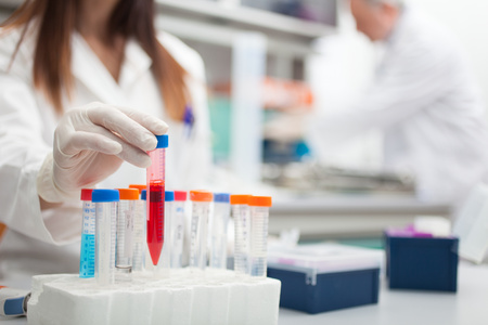 Scientist at work in a laboratory photo