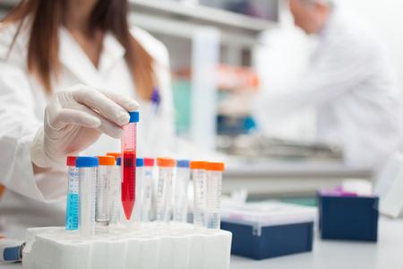 Wetenschapper aan het werk in een laboratorium
