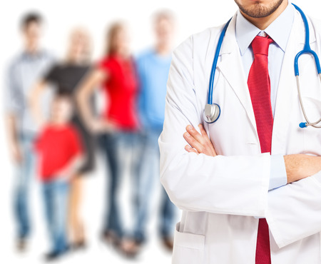 doctoring: Particolare dell'uniforme di un medico Archivio Fotografico