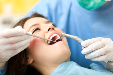 hygienist: Dentist at work