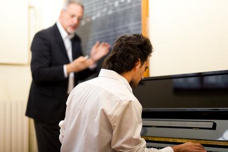 pianista: Lección de música