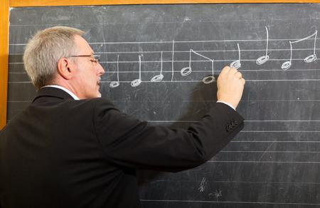 college class: Music teacher