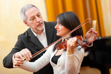 Violin lesson photo