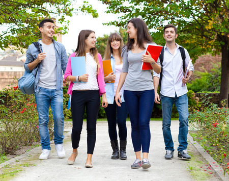 Group of students at the park photo