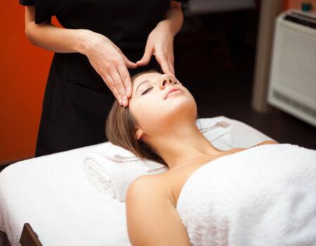 Beautiful woman having a massage photo