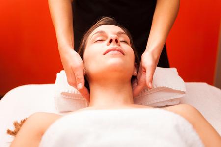 woman neck: Beautiful woman receiving a massage