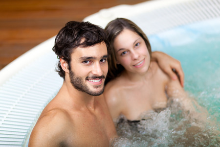 whirlpools: Couple relaxing in a spa