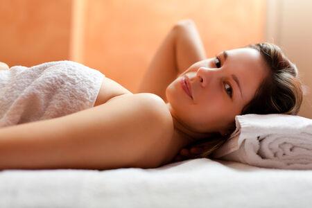 rubdown: Beautiful woman in a spa