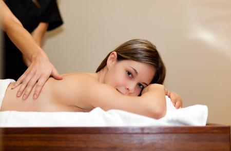 rubdown: Woman having a massage