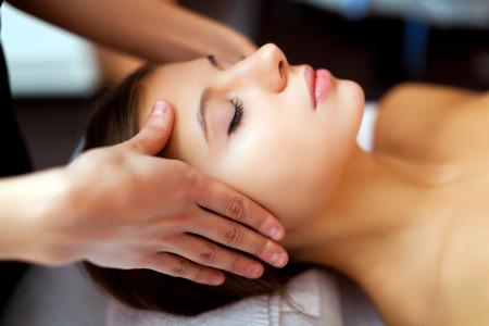 rubdown: Woman having a massage in a spa