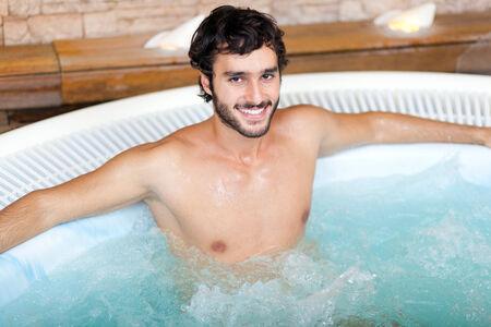hydromassage: Man relaxing in a beauty farm