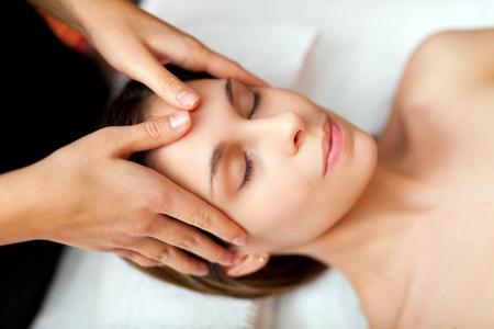 Woman receiving a massage photo