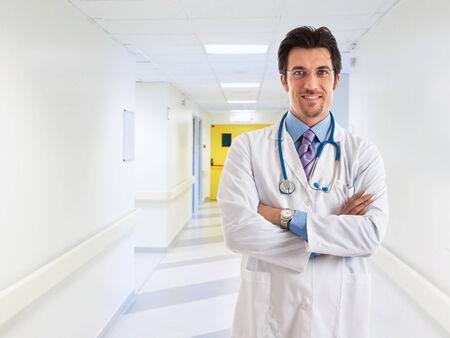 doctoring: Ritratto di un medico sorridente Archivio Fotografico