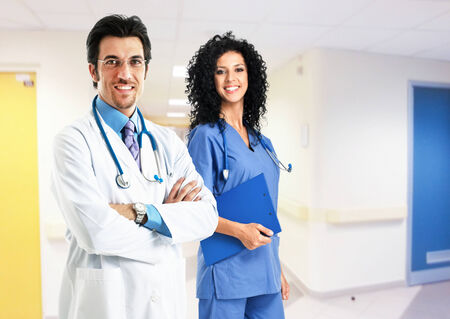 Portrait of medical workers photo