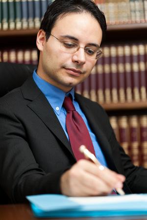 principal: Successful lawyer portrait in his studio