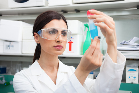 trial: Scientist at work in a laboratory