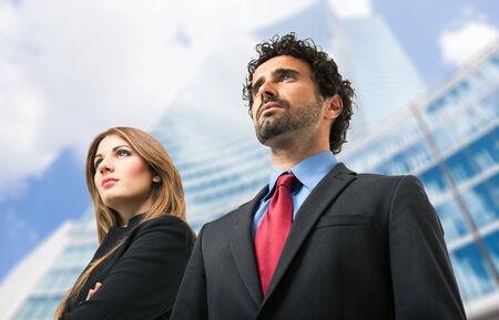 Portrait of confident business people photo