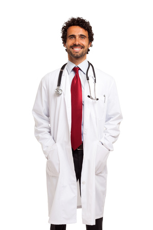 doctoring: Ritratto di un medico bel sorriso Archivio Fotografico