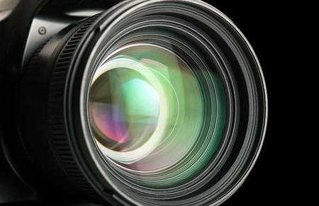 dslr camera: Close-up of a photographic lens Stock Photo