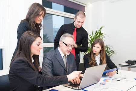 People at work during a business meeting photo