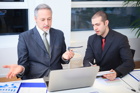 finance director: Business people at work in their office Stock Photo